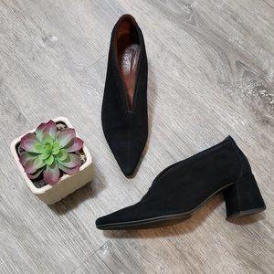 Hispanitas Connie Black Suede Block Heels 38.5